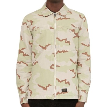 Clothing Men long-sleeved shirts Huf Reine Long Sleeve Shirt Camo Green