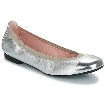 Shoes Women Flat shoes Pretty Ballerinas  Silver