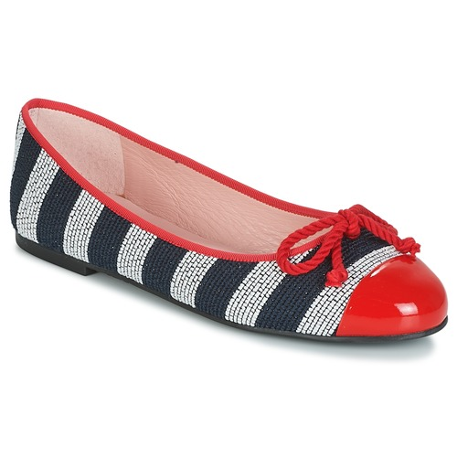 Shoes Women Flat shoes Pretty Ballerinas  Navy / Red