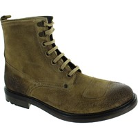 Shoes Men Boots Base London Mercury Greasy Suede Taupe