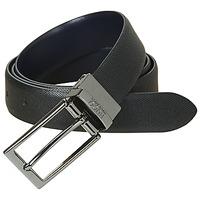 Clothes accessories Men Belts HUGO-Hugo Boss GILVIO REVERSIBLE Black / Marine