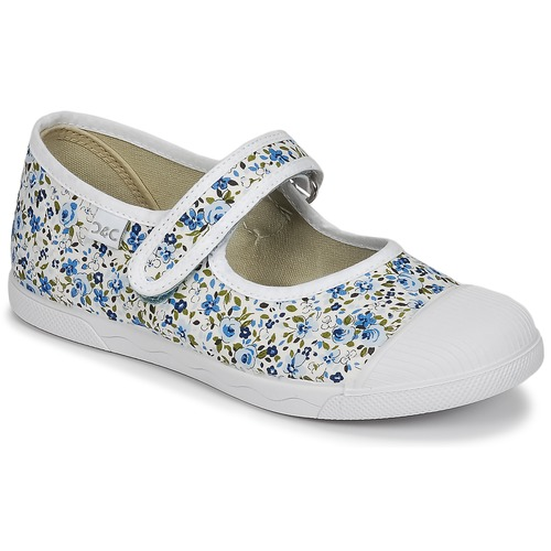 Shoes Girl Flat shoes Citrouille et Compagnie APSUT Blue / White