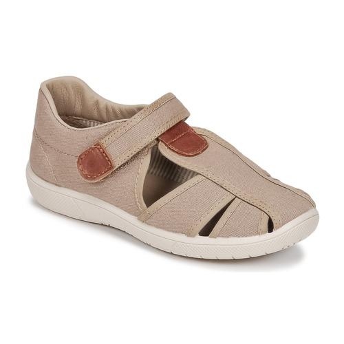Shoes Boy Sandals Citrouille et Compagnie GUNCAL Beige