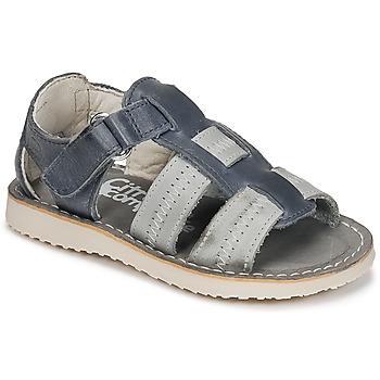 Shoes Boy Sandals Citrouille et Compagnie IOUTIKER Blue / Grey