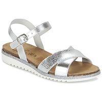 Shoes Girl Sandals Citrouille et Compagnie IZOEGL Silver