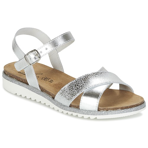 Shoes Girl Sandals Citrouille et Compagnie GAUFRETTE Silver