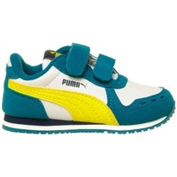 Shoes Children Low top trainers Puma Cabana Racer SL V Inf Blue-White
