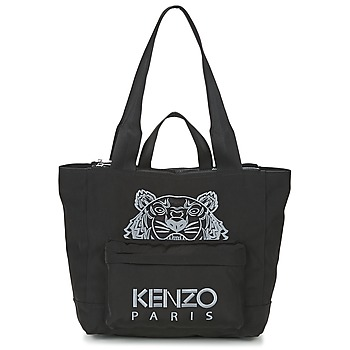 Bags Women Shopping Bags / Baskets Kenzo KANVAS TIGER TOTE LARGE Black