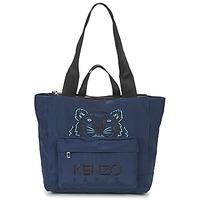 Bags Women Shopping Bags / Baskets Kenzo KANVAS TIGER TOTE LARGE Marine