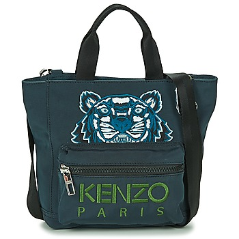 Bags Women Shopping Bags / Baskets Kenzo KANVAS TIGER MINI TOTE Grey