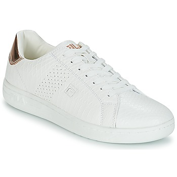 Shoes Women Low top trainers Fila CROSSCOURT 2 F LOW WMN White / Pink / Gold