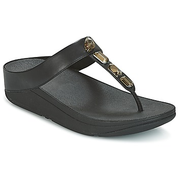 Shoes Women Flip flops FitFlop ROKA TOE-THONG SANDALS Black