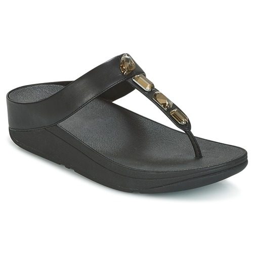 7e7e97454242 FitFlop ROKA TOE-THONG SANDALS Black - Free delivery with Spartoo UK ...