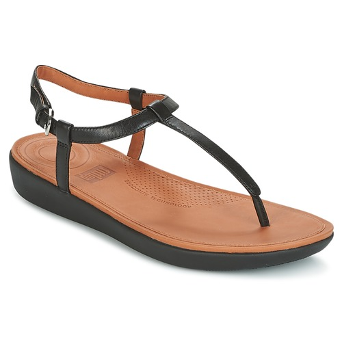 Shoes Women Sandals FitFlop TIA TOE THONG SANDALS Black