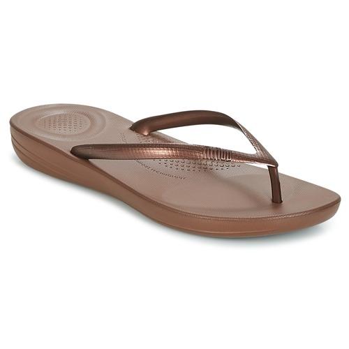 Shoes Women Flip flops FitFlop IQUSHION ERGONOMIC FLIP FLOPS Bronze