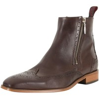 Shoes Men Mid boots Jeffery-West Men's Leather Boots, Brown brown