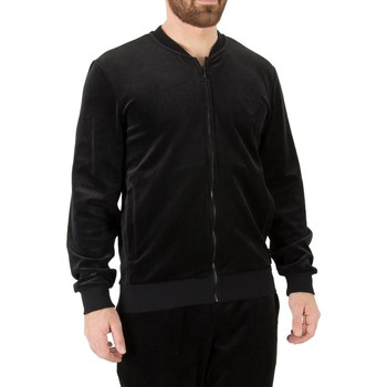 Clothing Men Sleepsuits Armani Men's Felpa Zip Logo Jacket, Black black