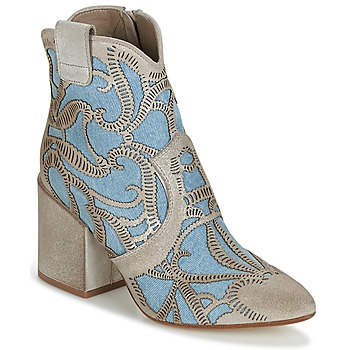 Shoes Women Ankle boots Now MOVIDA Beige / Jeans