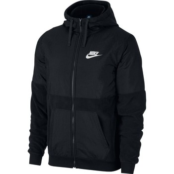 Clothing Men Fleeces Nike Men's  Sportswear Hoodie NEGRO