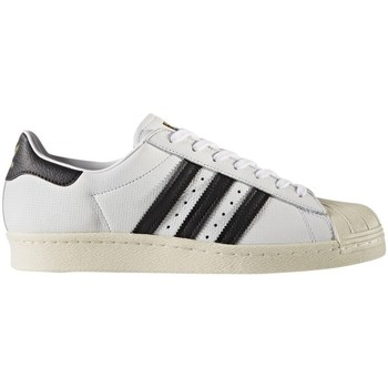 Shoes Men Low top trainers adidas Originals Superstar 80S Black-White