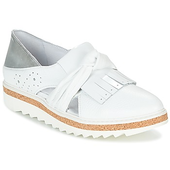 Shoes Women Loafers Regard RASTAFA White / Silver