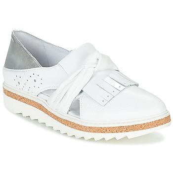 Shoes Women Loafers Regard RASTAFA White / Silver