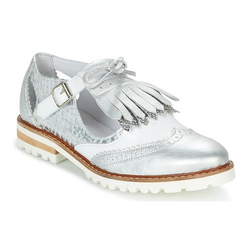 Shoes Women Derby Shoes Regard RETAZO White / Silver