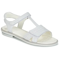 Shoes Girl Sandals Geox J S.GIGLIO A White