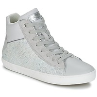 Shoes Girl Hi top trainers Geox J KILWI G. H Grey / Silver