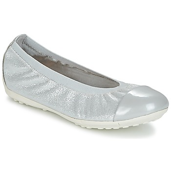 Shoes Girl Flat shoes Geox J PIUMA BAL A Grey / Silver