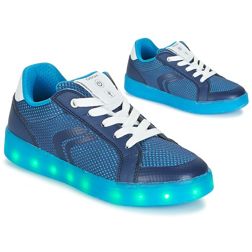 Shoes Boy Low top trainers Geox J KOMMODOR B.A Blue