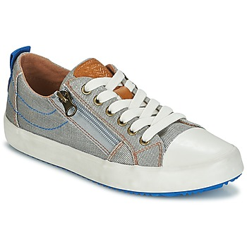 Shoes Boy Low top trainers Geox J ALONISSO B. D Grey / Blue