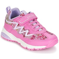 Shoes Girl Low top trainers Geox J BERNIE G. A Pink / Mauve / White