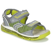 Shoes Boy Outdoor sandals Geox J S.ANDROID B.A Grey / Green