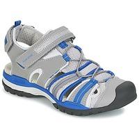 Shoes Boy Outdoor sandals Geox J BOREALIS B. C Grey / Blue