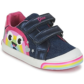 Shoes Girl Low top trainers Geox B KILWI G. C Jeans / Pink