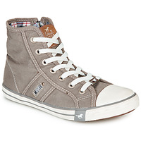Shoes Women Hi top trainers Mustang GALLEGO Grey / Silver