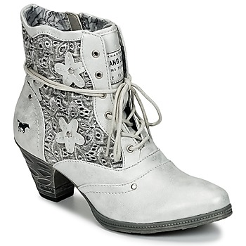 Shoes Women Ankle boots Mustang JIPIRI Silver
