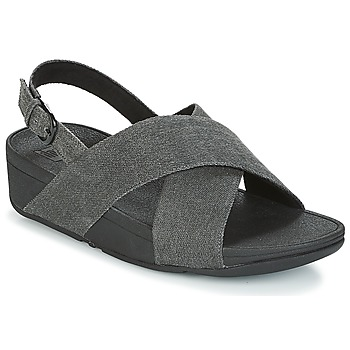 Shoes Women Sandals FitFlop LULU CROSS BACK-STRAP SANDALS Black
