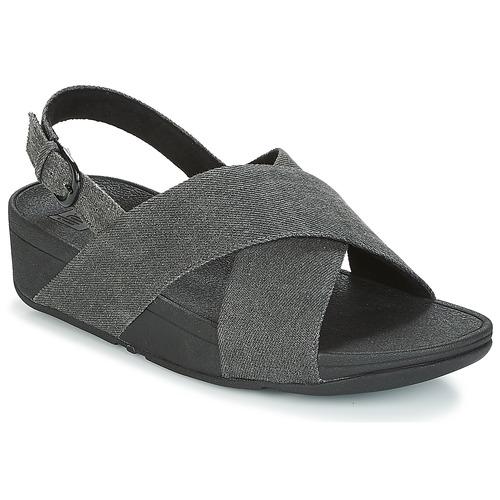 Shoes Women Sandals FitFlop LULU CROSS BACK-STRAP SANDALS Black