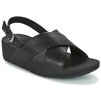 Shoes Women Low top trainers FitFlop LULU CROSS BACK-STRAP SANDALS  black