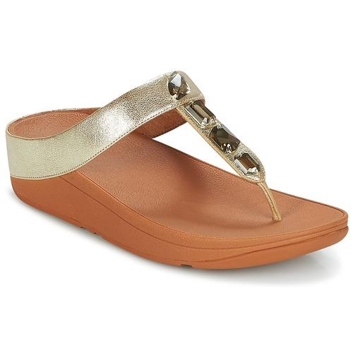 Shoes Women Flip flops FitFlop ROKA Gold