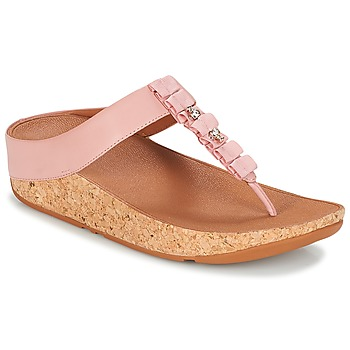 Shoes Women Low top trainers FitFlop RUFFLE TOE THONG SANDALS Pink