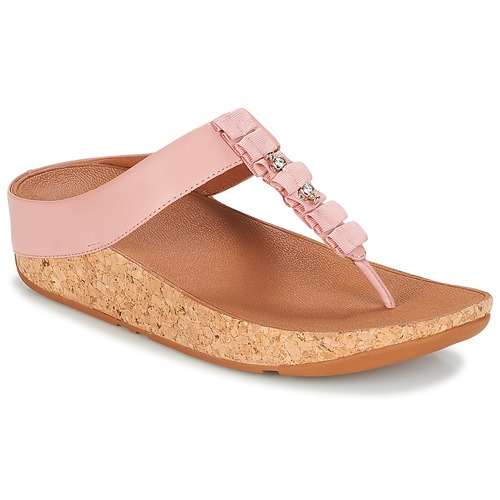 Shoes Women Flip flops FitFlop RUFFLE TOE THONG SANDALS Pink