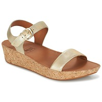 Shoes Women Low top trainers FitFlop BON II BACK-STRAP SANDALS Gold