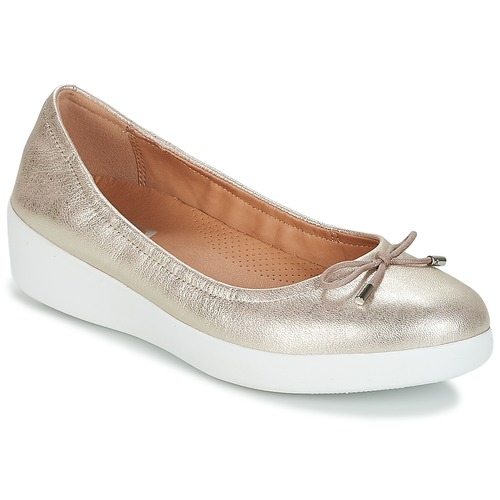 Shoes Women Flat shoes FitFlop SUPERBENDY BALLERINAS Silver