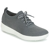 Shoes Women Brogues FitFlop F-SPORTY UBERKNIT SNEAKERS Grey