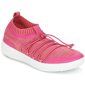 Shoes Women Low top trainers FitFlop UBERKNITW SLIP-ON GRILLE SNEAKERS Coral
