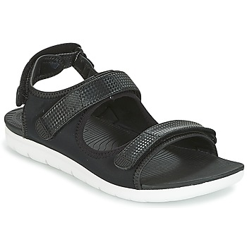Shoes Women Low top trainers FitFlop NEOFLEX BACK-STRAP SANDALS  black