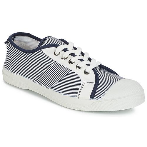 Shoes Women Low top trainers Bensimon TENNIS FINES RAYURES Navy